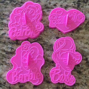 VTG Set of 4 Barbie Cookie Cutters (1992)
